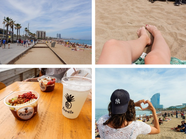 Barcelona_beach_collage