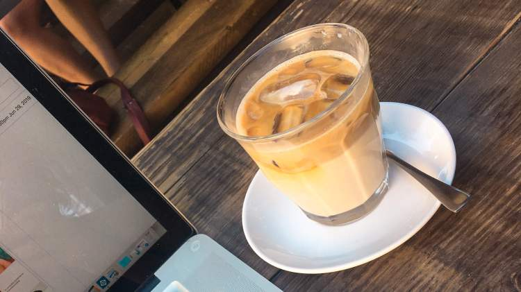 vegan iced cappuccino