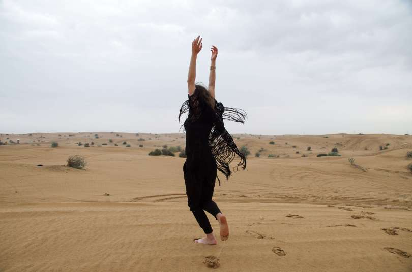 Dubai Desert freedom photoshoot