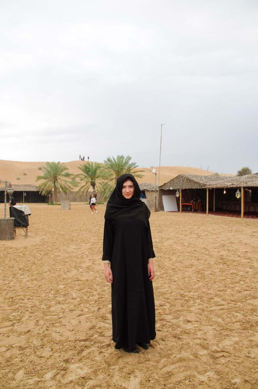 Dubai Desert Camp Burka