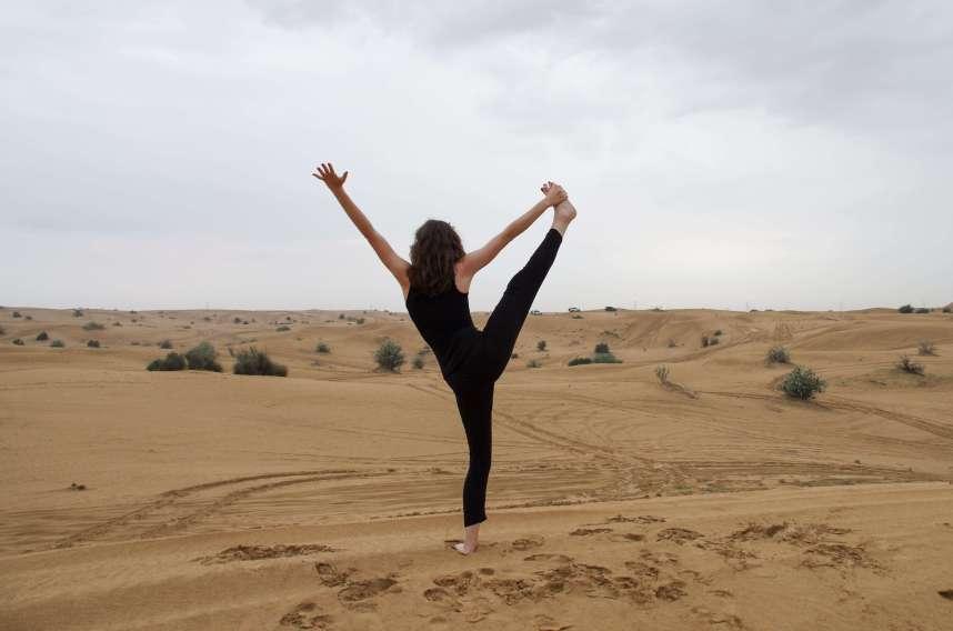 Dubai Desert Yoga